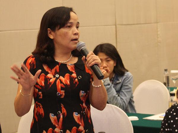 Chị Hà Thị Minh Tâm, Chủ tịch Hội Liên hiệp Phụ nữ tỉnh Hà Nam