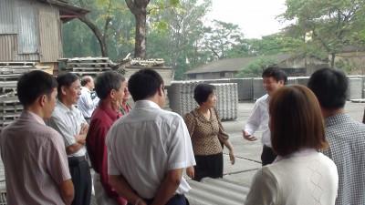 Thị sát cơ sở sản xuất tấm lợp chứa amiăng tại Thái Bình