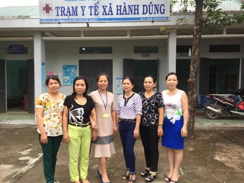 Đoàn nghiên cứu đến khảo sát tại các Trạm Y tế