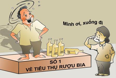 Việt Nam đang là nước tiêu thụ rượu bia cao nhất Đông Nam Á