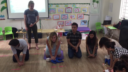 CPR training for KinderGreen's  teachers