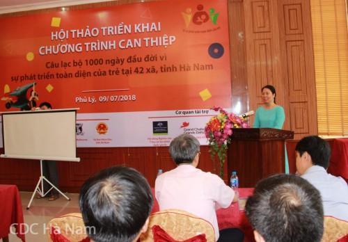ThS. Trần Thị Thu Hà, PGĐ Trung tâ, RTCCD. đại diện nhóm nghiên cứu