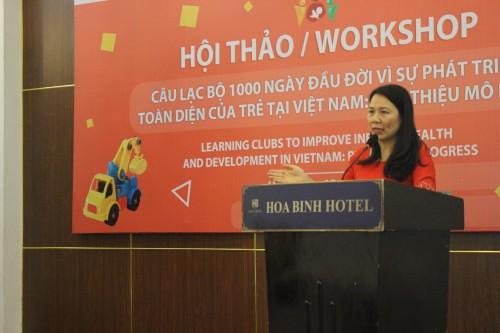 ThS Trần Thu Hà trình bày thiết kế mô hình và triển khai can thiệp thực tế.