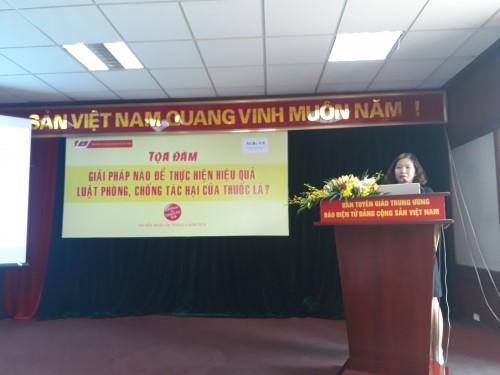 Bà Trần Thị Nhị Thủy, Phó Vụ trưởng Vụ Pháp chế Bộ Thông tin và Truyền thông định hướng và vai trò của các cơ quan truyền thông trong thực hiện Luật PCTHTL tại Việt Nam