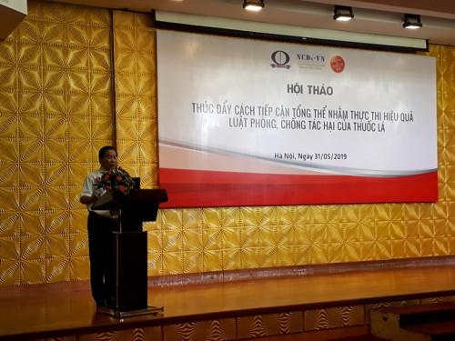 ThS.BS. Nguyễn Trọng An, Phó Giám đốc Liên minh NCDs-VN phân tích các bắng chứng can thiệp của ngành công nghiệp thuốc lá và các chính sách kiểm soát thuốc lá tại Việt Nam
