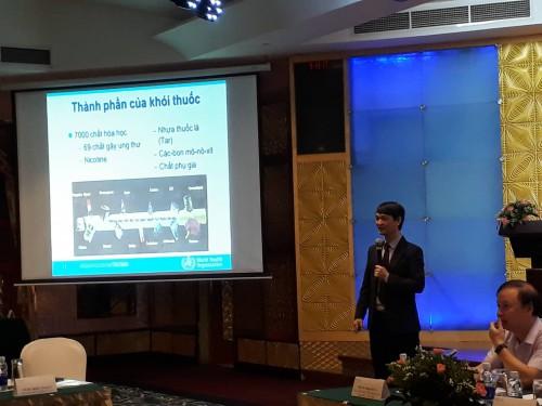 ThS.BS. Nguyễn Tuấn Lâm trình bày về các quy định của Công ước khung kiểm soát thuốc lá và Điều 5.3