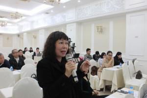 Bà Nguyễn Minh Hà, đại diện CLB liên thế hệ người cao tuổi tự giúp nhau tại Hà Nội