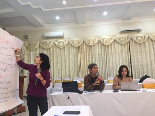 BS. Nguyễn Thị An điều hành thảo luận