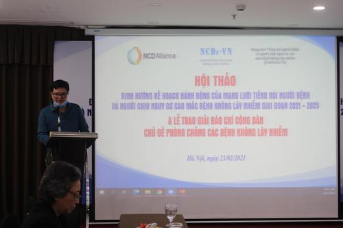 Ông Mai Phan Lợi, Giám đốc Trung tâm Truyền thông Giáo dục Cộng đồng (MEC), đại diện ban tổ chức Giải báo chí công dân